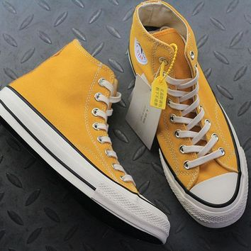 Converse Addict High Tops Fashion Canvas Flats Sneakers Yellow-1