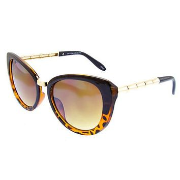 Butterfly Cat Eye Sunglasses - Tiger Print