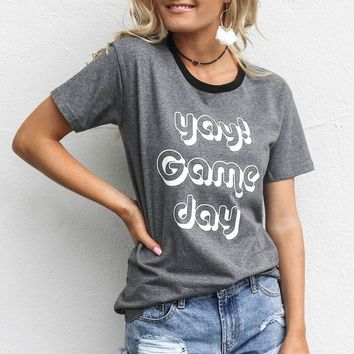 Yay Game Day Charcoal T-Shirt