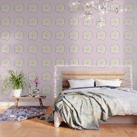 Pale Rose on Stripes Wallpaper by drawingsbylam