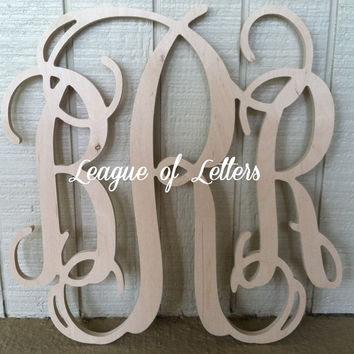 18 inch Wooden Monogram Letters