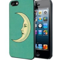 vintage crescent moon face Samsung Galaxy S3 S4 S5 Note 3 , iPhone 4 5 5c 6 Plus , iPod 4 5 case