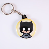 Batman Button Keychain