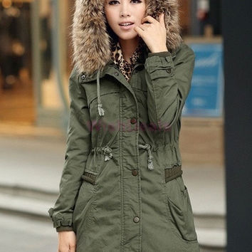 New Fashion Autumn Winter Women Fleece Warm Zip Faux Fur Long Hood Coat Thick Jacket Parka Overcoat   18284|42101 = 1932607428