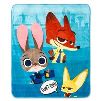 "Zootopia® Throw - 50""x60"" - Blue"
