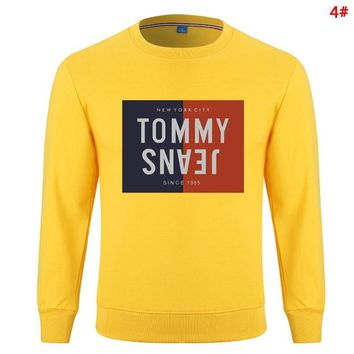 Tommy Autumn And Winter Fashion New Bust Letter Print Women Men Keep Warm Long Sleeve Sweater 4#