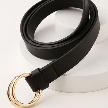 Oh Jackie Black Double O-Ring Belt