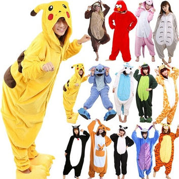Hot New Unisex Adult Pajamas Kigurumi Cosplay Costume Animal Onesuit Sleepwear_TQ [9221631172]