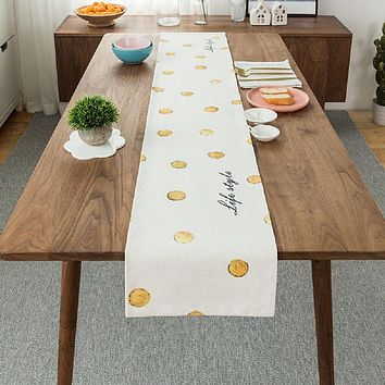 Golden Dots Table Runner 12x86""