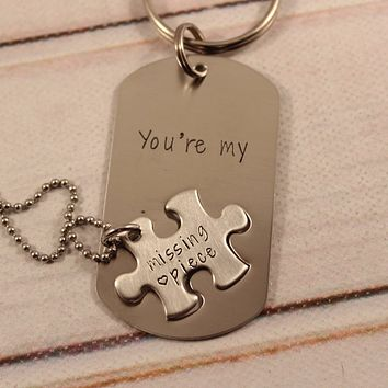 """You're my missing piece"" puzzle piece set"