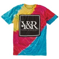 Young & Reckless Core Logo 2 Tie-Dye T-Shirt - Men's at CCS