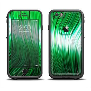 The Green Vector Swirly HD Strands Apple iPhone 6 LifeProof Fre Case Skin Set