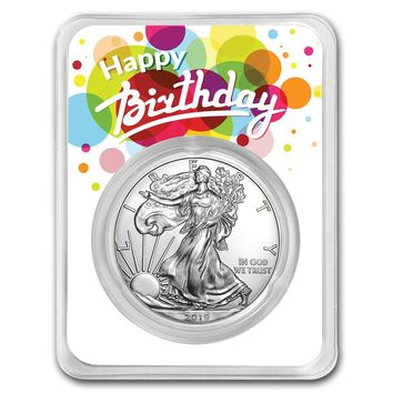 2019 1 oz Silver American Eagle - Birthday Surprise