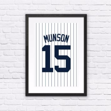 Thurman Munson Number 15 Jersey