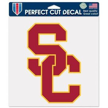 "Licensed USC Trojans Official NCAA 8"" x 8"" Die Cut Car Decal Southern Cal Wincraft 807205 KO_19_1"