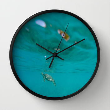 I Sea Turtles Wall Clock by Kelli Schneider