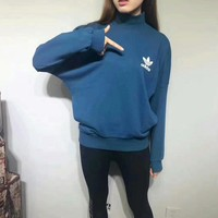 ADIDAS BLUE GRAY SWEATSHIRTS