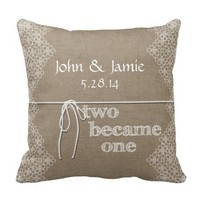Two Became One Custom Wedding Pillow