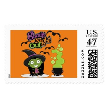 Ghouls Night Out Postage Stamp