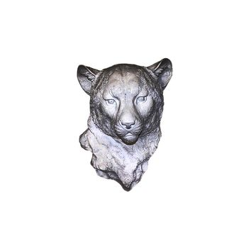 The Chester | Cheetah Leopard Head | Faux Taxidermy | Silver Resin