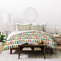 Raven Jumpo Rainbow Feathers Duvet Cover