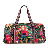 SAKROOTS ARTISTIC CIRCLE XL DUFFEL IN JET FLOWER POWER