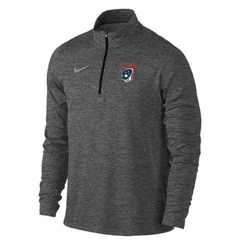 Men's Team USA Nike Heather Element 1/4 Zip