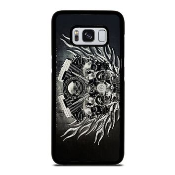 HARLEY DAVIDSON SKULL ENGINE Samsung Galaxy S3 S4 S5 S6 S7 Edge S8 Plus, Note 3 4 5 8 Case Cover