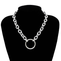 O Ring Chunky Chain Choker