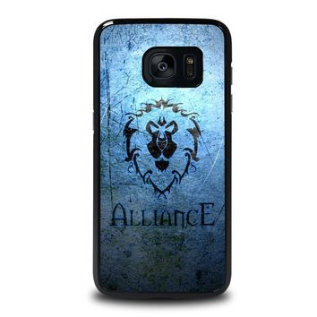 world of warcraft alliance wow samsung galaxy s7 edge case cover  number 1