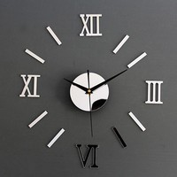 Mirror Wall Clock Decal