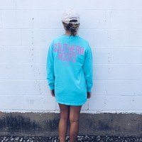 SR Custom Long Sleeve Tee - Lagoon