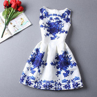 Summer Women Vintage Sleeveless Bodycon Casual Party Evening Cocktail Mini Dress