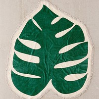 ban.do Monstera Leaf Oversized Towel | Urban Outfitters