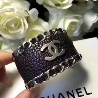 Vintage Chanel Black Bangle, Cuff Bracelet