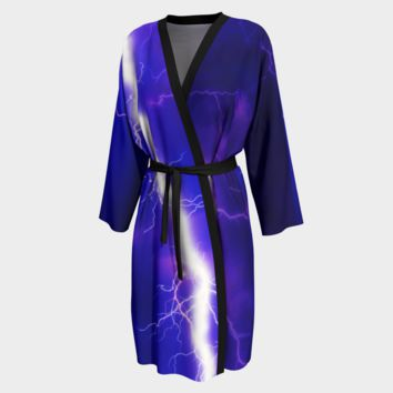 Peignoir Robe Lightning Print