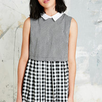 Cooperative Pleated Dress in Gingham - Urban Outfitters