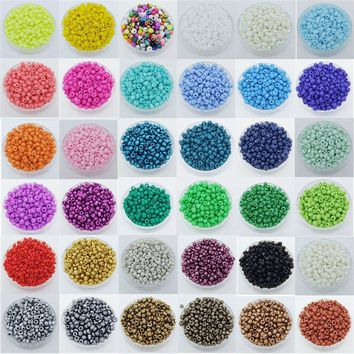 2000 Pcs Mini Czech Glass Round Spacer Beads for DIY Craft Jewelry Decoration (Size:2mm)