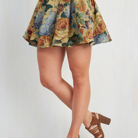 Vintage Inspired Short Length A-line What's on Tapestry? Skirt by ModCloth