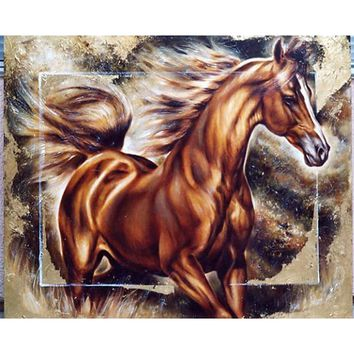 5D Diamond Painting Painted Brown Horse kit