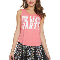 Don't Stop The Dance Party Tank - Pink