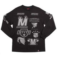 League Longsleeve T-Shirt Black / 3M