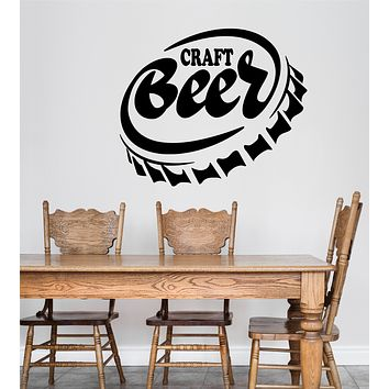 Vinyl Wall Decal Craft Beer Alcohol Home Bar Pub Stickers (3349ig)