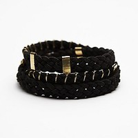Free People Womens Suede Wrap Bracelet