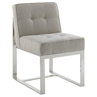 Marco Side Chair, Gray, Acrylic / Lucite, Outdoor Dining Chairs