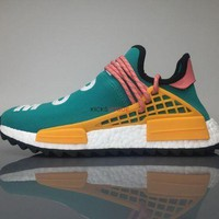 Adidas Nmd Human Race Pharrell Williams Breathe And Walk Gold Yellow Green 190 Women And Men Sneaker - Beauty Ticks
