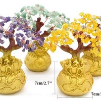 7 Inch Mini Natural Crystal Money Bonsai Tree