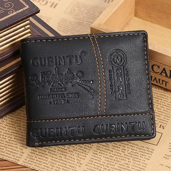 New2018  fashion men wallets famous brand leather wallet design wallets with coin pocket purse card holder for men carteira