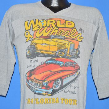 80s World Of Wheels Hot Rod Tour Jersey t-shirt Medium