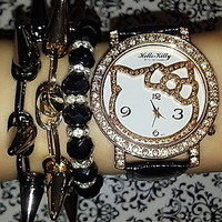 Hello Kitty- Spiked Arm Candy set